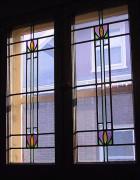 Edwardian-style windows in a bungalow