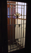 Edwardian-style art glass in a bungalow door
