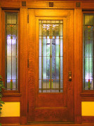 Prairie School glass in Arts & Crafts home