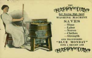 Postcard advertising washing machine.