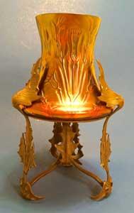 Metal vase.