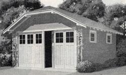 Stucco garage.