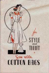 Cover of sewing brochure.