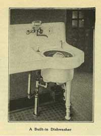 Photo of vintage dishwasher.