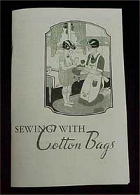 Cover of Sewing with Cotton Bags booklet.