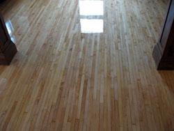 Hardwood floor patching.