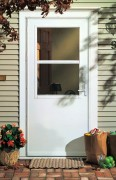 photo of white aluminum door.