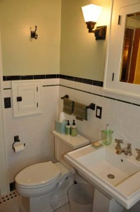 Completed bathroom.