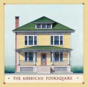 Illustration of yellow American Foursquare.