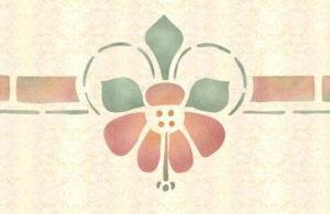 Hibiscus stencil.