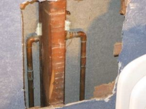 pipes in wall