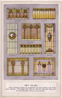 Stained glass examples from a 1920s Minneapolis millwork catalog