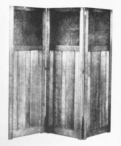 Folding screen from Stickley catalog.