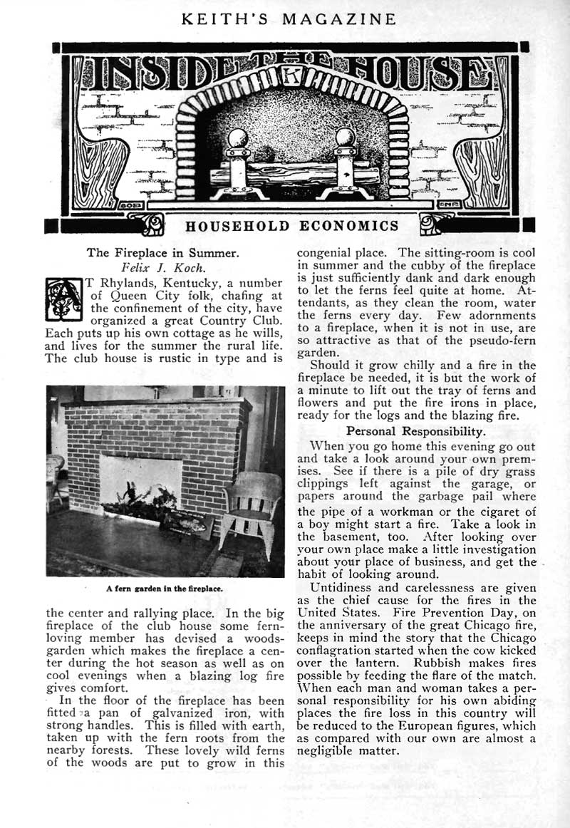 The Fireplace in Summer article.