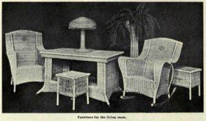 wicker living room set