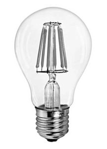 "An LED ""filament"" bulb made by BIPEE Lighting Co."
