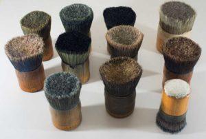 vintage brushes.