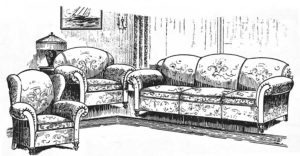 vintage living room furniture