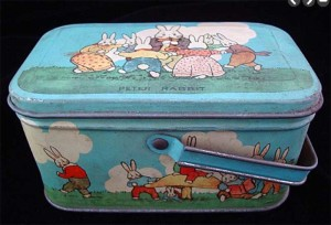 Peter Rabbit lunchbox, 1920s.