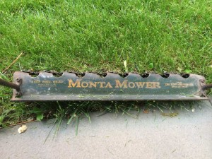 close-up of mower.