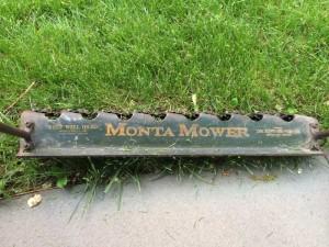 close-up of mower.