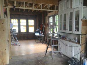 photo of kitchen under construction.