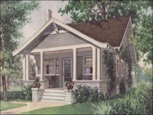 Illustration of a bungalow.