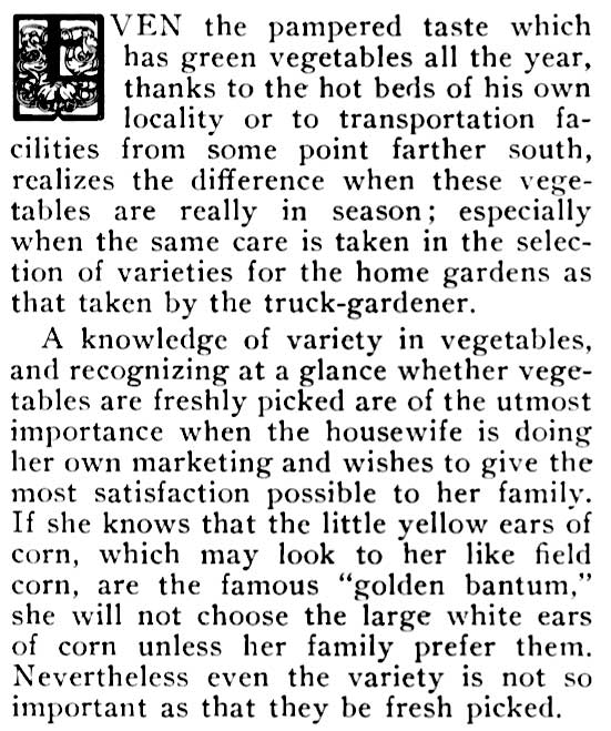 article: green vegetables