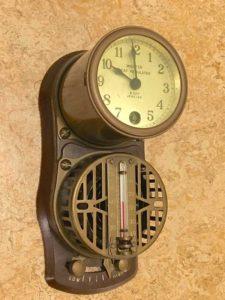 A 1925 Minneapolis-Honeywell Regulator Co. thermostat.