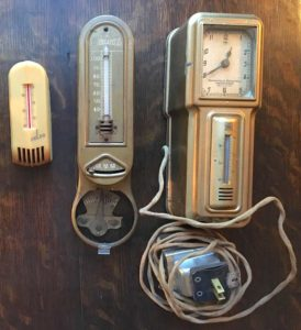 3 vintage thermostats.