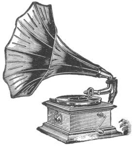 Victrola with Horn.