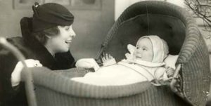 Photo of a woman and baby.