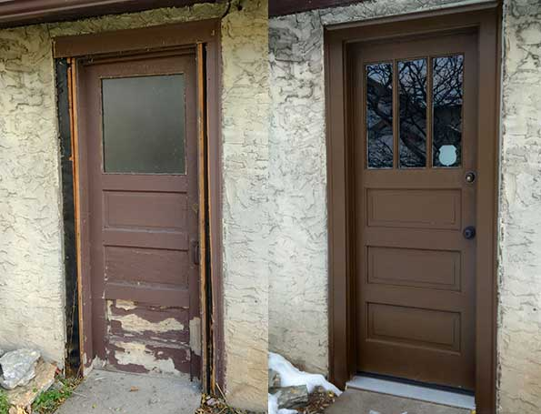 Old and new doors.