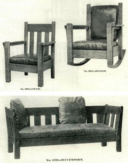 Chairs and sofa.