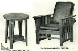 Chair and table.