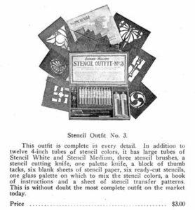 Stencil kit ad.