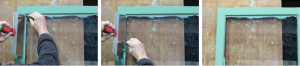 Removing excess paint from the window glass. Photos courtesy of Martin Muller, owner of Double-Hung Window Restoration.
