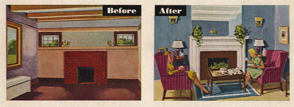 Room before & after.