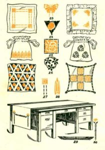 graphic of many stenciled items.