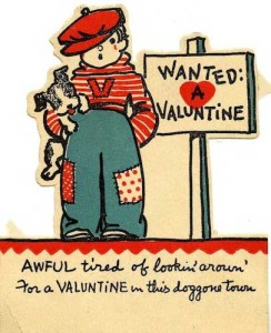 Valentine with boy and dog.